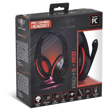 Casque Pro H5 Red