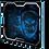 Thumbnail: Tapis de souris S.O.G Blue Smokey Skull - XL