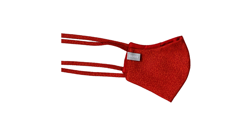 Face mask red leopard