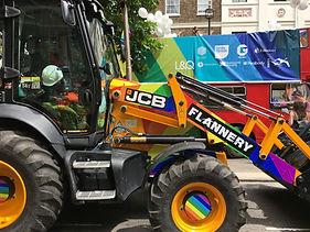 Rainbow JCB London Pride
