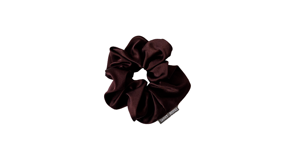 Silk scrunchie bordeaux