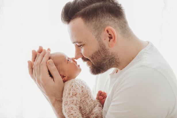 Babyshooting mit Papa