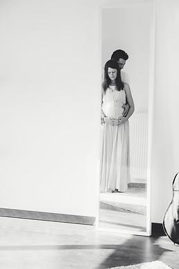 Spiegel Babybauchshooting