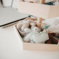 Mini-Bärchen und Herzen für die kleinen zarten Händchen der Neugeborenen