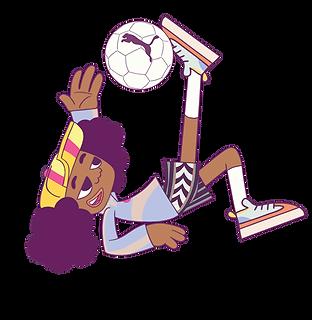 KMG Studio KidSuper Studios Puma Denzel character soccer kick motion png