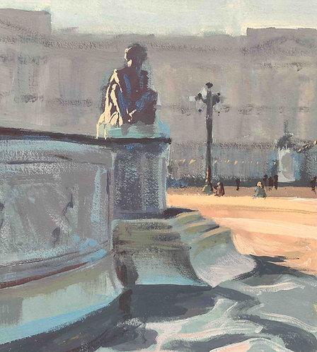 """Victoria Memorial, The Mall 6x6"""""""