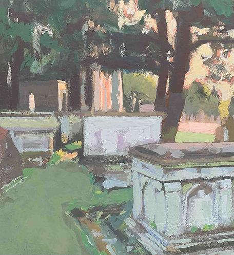 """Graveyard St Mary's, Wimbledon 6x6"""""""