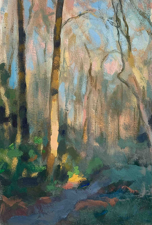 "Woodland morning 4x6.5"""