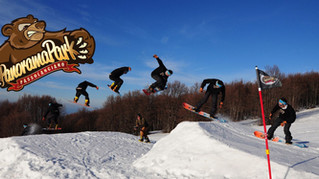 Feelgood Snowboard shredding in Panorama Park