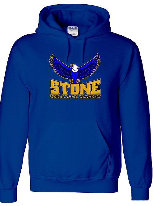 Royal Blue Hoodie With Mascot