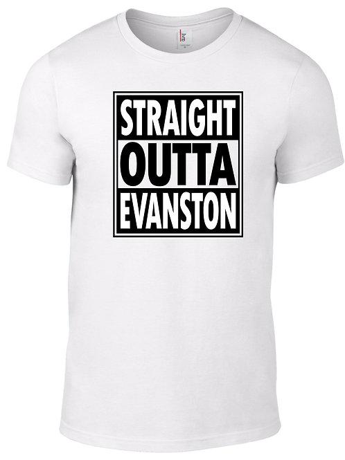Straight Outta Evanston-black on white & white on black