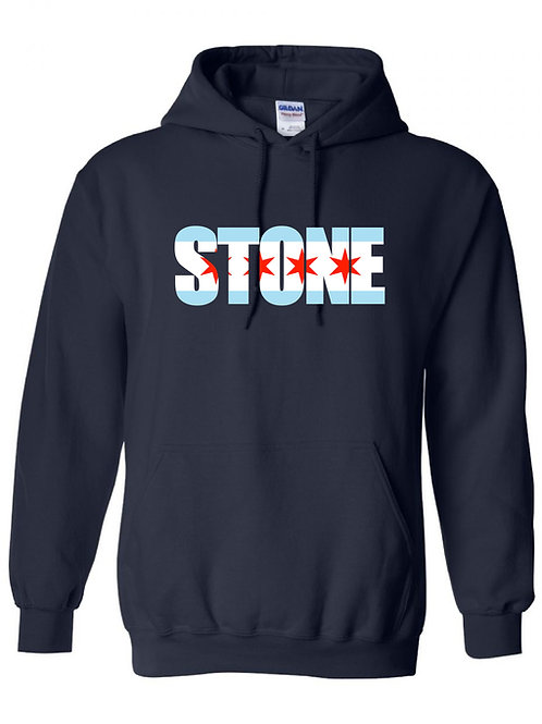 Stone -Chicago Flag Hoodie
