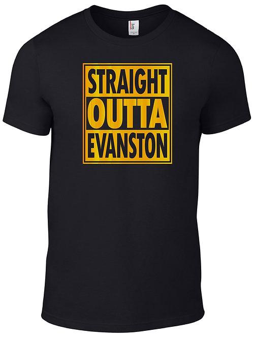 Straight Outta Evanston-Gold on Black