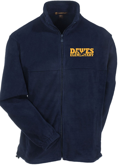 Navy Full Zip Fleece Jacket