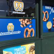 Auntie Anne's Window Advertising