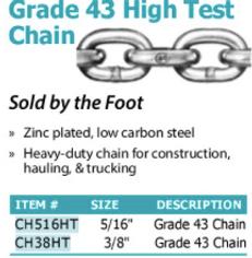 grade 43 high test chain