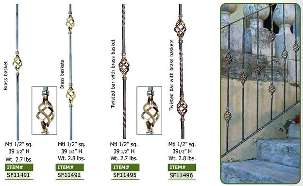 STEEL BASKET BALUSTER