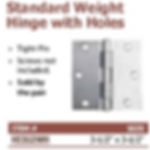 standard weight hinge with holes