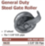 general duty steel gate roller