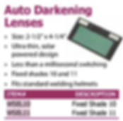 auto darkening lenses