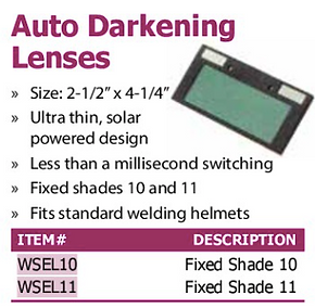 auto darkening lenses