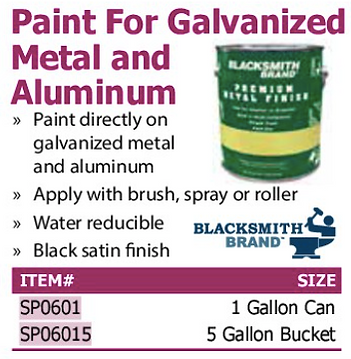 paint for galvanized metal and aluminum