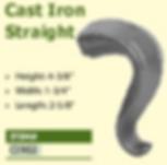 cast iron straight