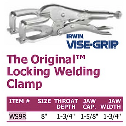 the original locking welding clamp