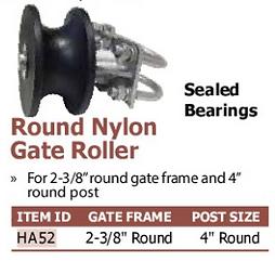 round nylon gate roller