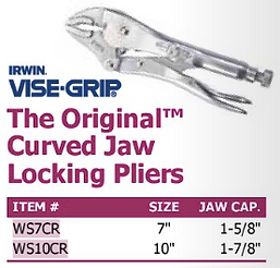 the original curved jaw locking pliers