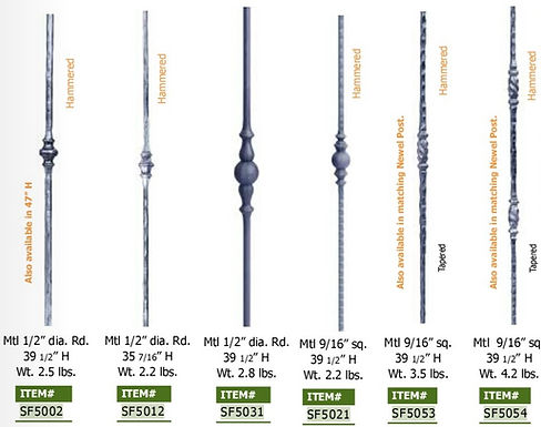 BALUSTER WITH BUSHINGS