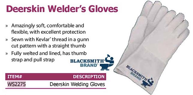 deerskin welder's gloves