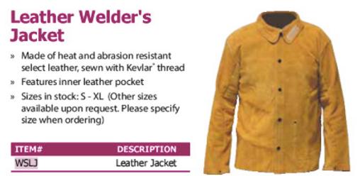 leather welder's jacket