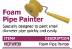 foam pipe painter