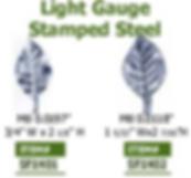light gauge stamped steel