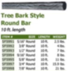 TREE BARK ROUND BAR