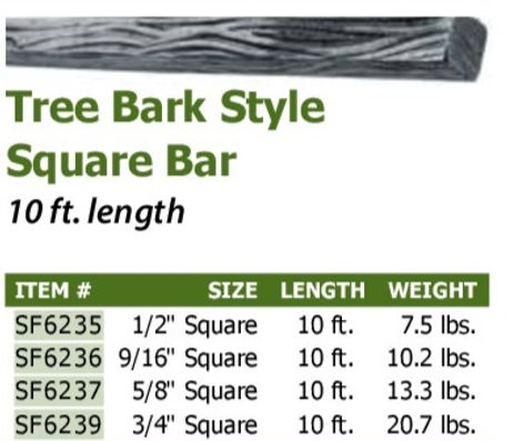 TREE BARK SQUARE BAR