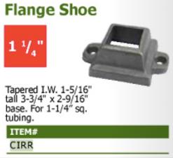 flange shoe