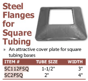 steel flanges for square tubing
