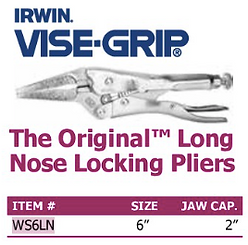 the original long nose locking pliers