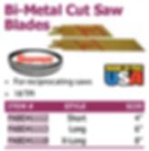 bi-metal cut saw blades