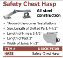 safety chest hasp