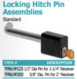 locking hitch pin assemblies