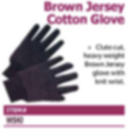 brown jersey glove