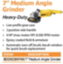 "7"" medium angle grinder"