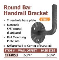 round bar handrail bracket