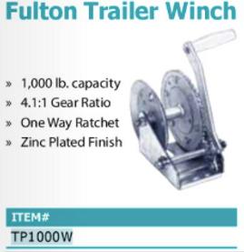 Fulton trailer winch
