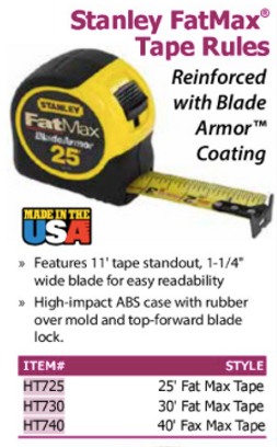stanley fatmax tape rules