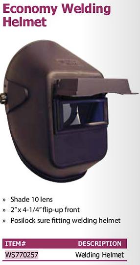 economy welding helmet