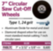"""7"""" circular saw cut-off wheels"""